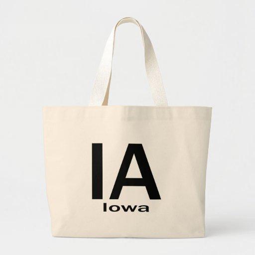 Negro llano de IA Iowa Bolsa Lienzo