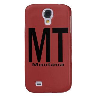 Negro llano de la TA Montana Funda Para Galaxy S4