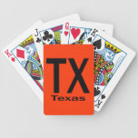Negro llano de TX Tejas Baraja Cartas De Poker