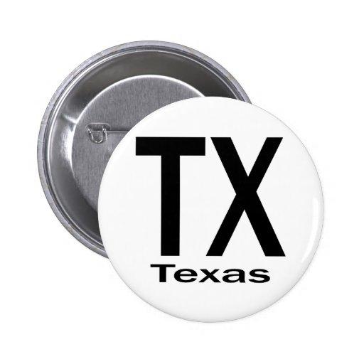 Negro llano de TX Tejas Pin Redondo 5 Cm