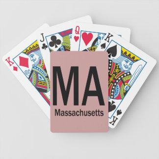Negro llano del mA Massachusetts Barajas De Cartas