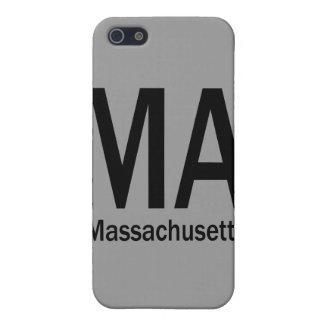 Negro llano del mA Massachusetts iPhone 5 Funda