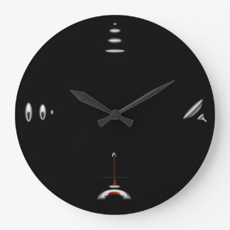Negro llano minimalista > relojes de pared artísti