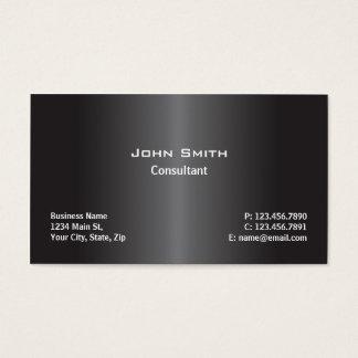 Negro llano moderno profesional de la reparación tarjetas de visita