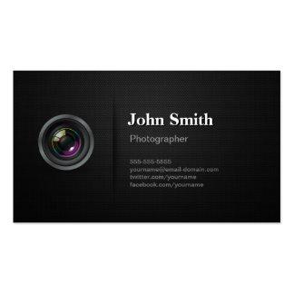 Negro llano profesional - fotógrafo de la cámara plantilla de tarjeta personal