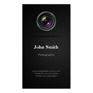 Negro llano simple - cinematógrafo del fotógrafo tarjetas de visita