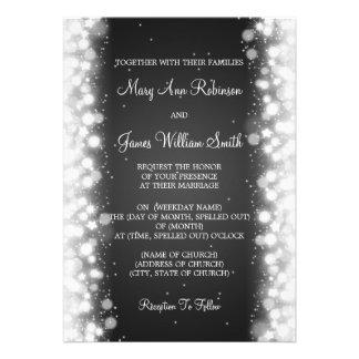 Negro mágico de la chispa del boda elegante comunicados personales