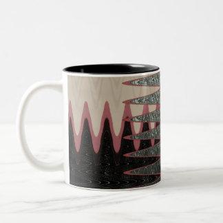 Negro mágico y rosado de cristal taza de café