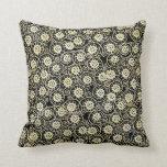 Negro magnífico y floral poner crema, damasco del  almohadas