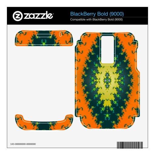 negro maravilloso del amarillo anaranjado calcomanía para BlackBerry bold
