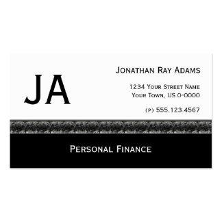 Negro masculino con granito gris negro tarjetas de visita