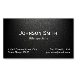 Negro mate llano profesional - elegante simple tarjetas de visita magnéticas (paquete de 25)