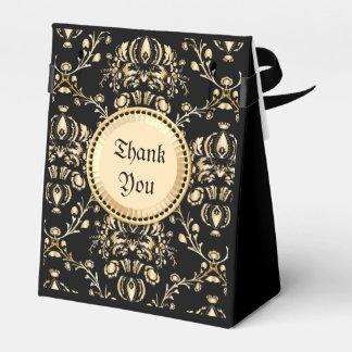 Negro medieval del damasco elegante con clase del caja para regalo de boda