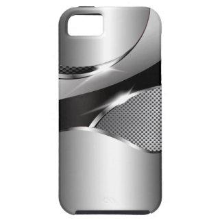 Negro metálico de la redada de la malla del cromo funda para iPhone SE/5/5s