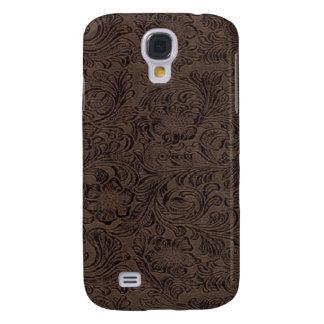 Negro/mirada 3G/3GS del cuero de la herramienta de Carcasa Para Galaxy S4