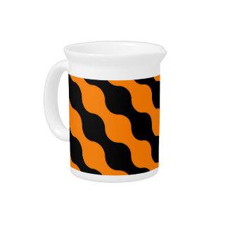 Negro, modelo retro anaranjado del arte de los cír jarras de beber