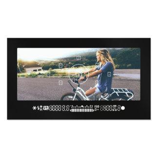 Negro moderno de la fotografía del visor fresco de tarjetas de visita