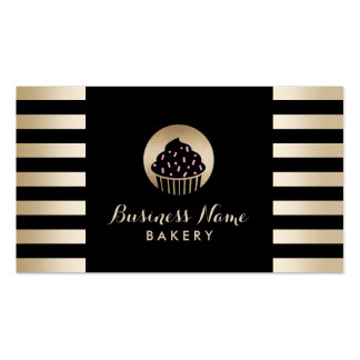 Negro moderno de la magdalena dulce de la tarjetas de visita