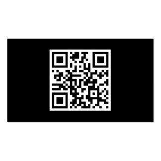 Negro moderno del código de encargo de QR Tarjetas De Visita