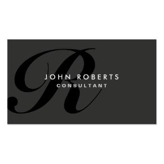 Negro moderno elegante profesional del monograma tarjetas de visita