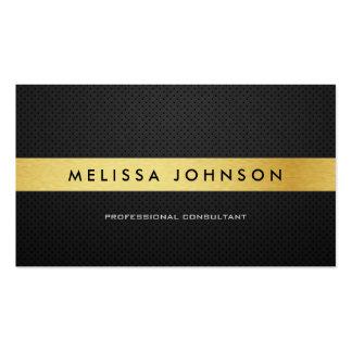 Negro moderno elegante profesional y oro tarjeta de visita