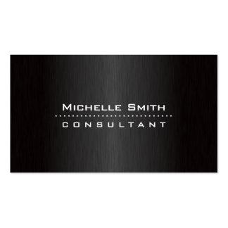 Negro moderno profesional elegante del diseñador d tarjetas personales