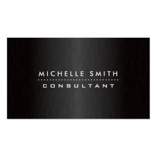 Negro moderno profesional elegante del diseñador tarjetas de visita