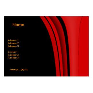 Negro moderno rojo de la tarjeta de visita