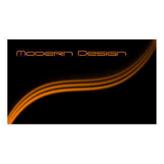 Negro moderno simple Swoosh anaranjado - tarjeta
