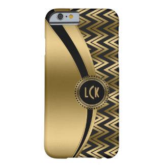 Negro moderno y zigzag geométrico Chevron 2a del Funda Para iPhone 6 Barely There