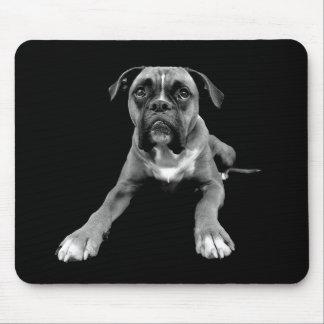 Negro Mousepad del perro de perrito del boxeador Alfombrilla De Raton