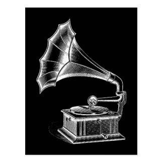 Negro musical del tocadiscos del fonógrafo del tarjeta postal