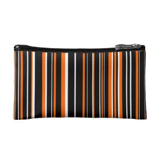 Negro, naranja, raya blanca del código de barras