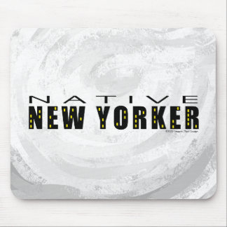 Negro nativo del neoyorquino tapetes de raton