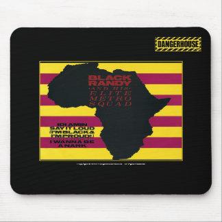 NEGRO negro de Mousepad Randy Idi Amin Dangerhouse Tapetes De Ratones