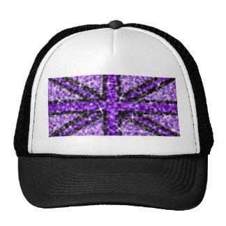 Negro negro púrpura BRITÁNICO del gorra del camion
