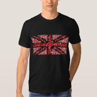 Negro negro rojo de la camiseta de la mirada poleras