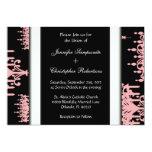 Negro negro y rosado y Whi del modelo de la Invitación 12,7 X 17,8 Cm
