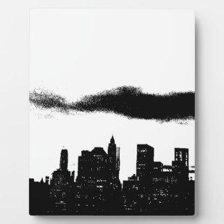 Negro NYC blanco New York City del arte pop Placas Con Foto
