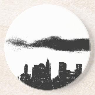 Negro NYC blanco New York City del arte pop Posavasos Para Bebidas