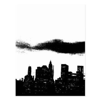 Negro NYC blanco New York City del arte pop Tarjetas Postales