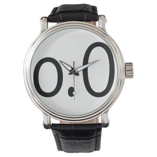 negro o.0 relojes de mano