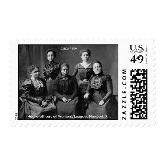 Negro officers of Women's League, Newport, R.I. Postage