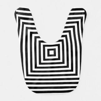 Negro óptico cuadrado/blanco del alto contraste babero de bebé