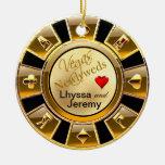 Negro/oro/arena de la foto del microprocesador del adorno navideño redondo de cerámica