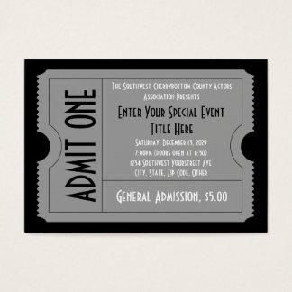 Negro+Paquete blanco del boleto del Tarjetas De Visita Grandes