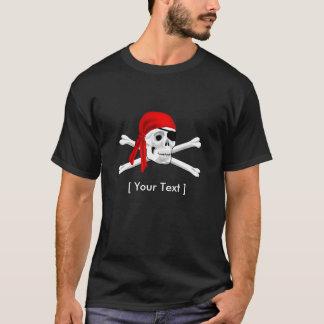 Negro para hombre del cráneo del pirata y de la playera