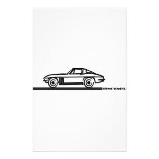 Negro partido 1965 de la pastinaca del Corvette Papeleria