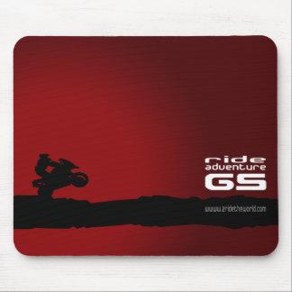 Negro Paseo-Aventura-GS en rojo Tapete De Raton