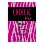 Negro personal del rosa del tigre de la tarjeta de tarjeta personal